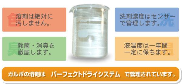 透明な溶剤
